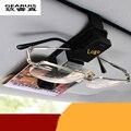 ABS Plastic Car Glasses Holder Case Muiti-purpose Cards Clip Sun Visor Clamp For Mercedes Benz GLK/ML/GL/CLA/B/C/E Class series