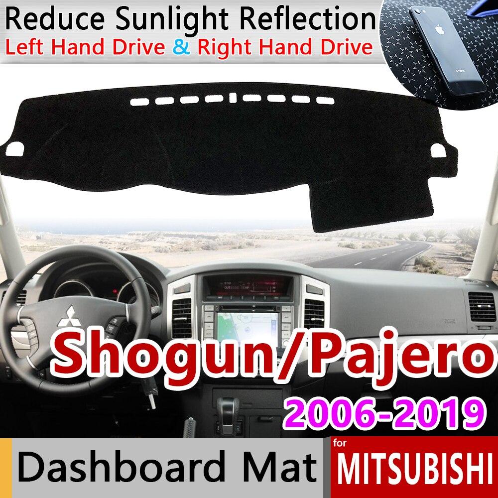 for Mitsubishi Pajero Shogun Montero 2006 2019 V80 V87 V93 V97 Anti-Slip Mat Dashboard Cover Carpet Sunshade Dashmat Accessories