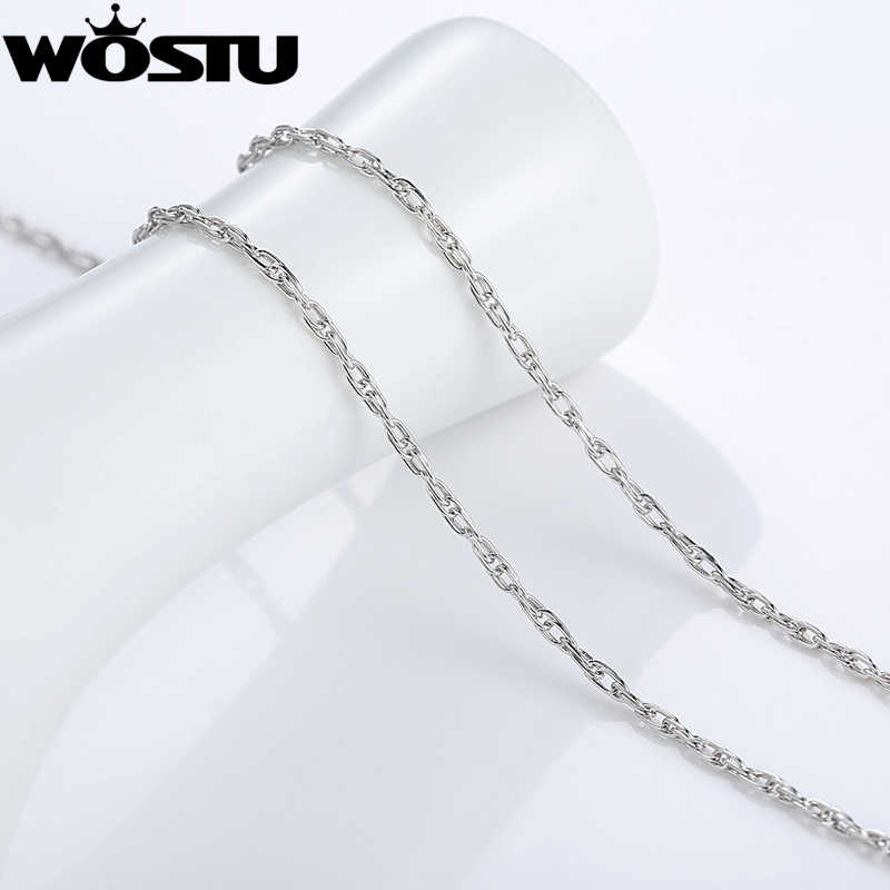 Oryginalne 100% 925 Sterling srebrne łańcuszki naszyjniki Fit dla wisiorek urok dla kobiet mężczyzn luksusowe S925 biżuteria prezent SCA002