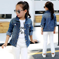 Girls Denim Jackets 2017 Children Clothing Spring & Autumn Denim Coats For Girls Outerwear Kids Clothes Tops 2-14 Years