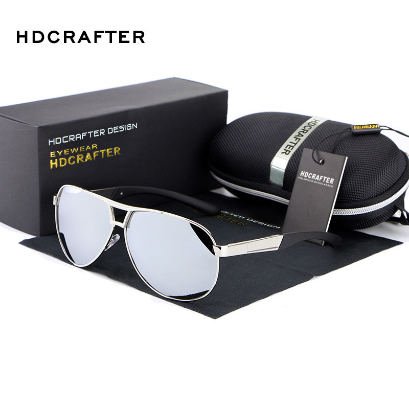 97f5ac89343 New 2016 HDCRAFTER Polarized Sports Driving Car Fishing Goggle Alloy  Sunglasses Man Brand Designer E030