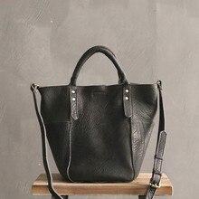 Handbags 100% Natural Soft Real leather Bucket Bag Women Tote Brand Shoulder Bags Female High Quality Black Messenger Bag Ladies цена в Москве и Питере