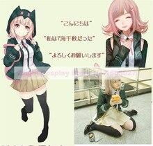Anime Super Danganronpa2 Chiaki Nanami Cosplay uniforme de la colegiala Japonesa Disfraces de Halloween Para Las Mujeres conjunto Completo