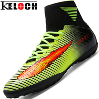 Keloch New High Ankle Turf Football Boots Men Outdoor Soccer Cleats Sports Shoes Zapatillas Deportivas Hombre