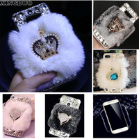 XINGDUO For Samsung Galaxy A5 2017 Phone Case Crown Tiger Pearl Swan Rabbit Fur Cover Case