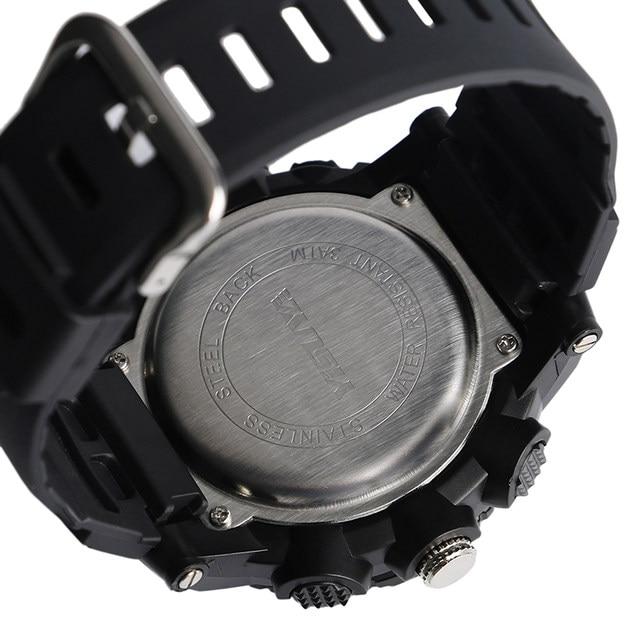 Yisuya Large Digital Stopwatch Date 3 Bar Water Resistant Sport Wrist Quartz Watch Waterproof Rubber Strap Ourdoor Male Cl