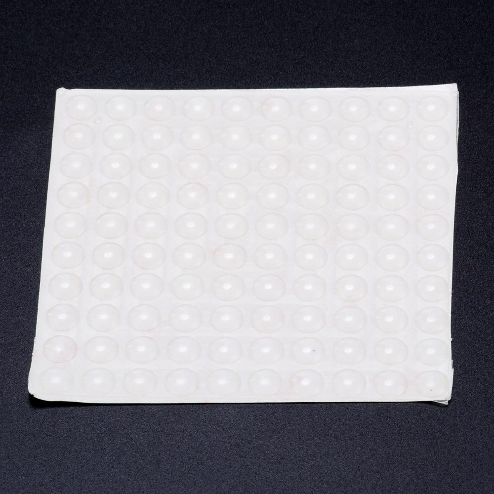 100 pçs auto-adesivo almofada de buffer de porta de borracha de silicone pés gabinete gavetas limpar semicírculo pára-choques acessórios de porta de móveis