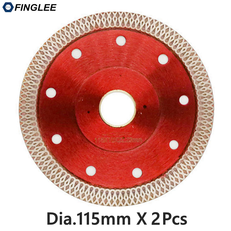 2pcs 115mm Wave Style Diamond Saw Blade for Porcelain tile ceramic Dry cutting aggressive disc marble granite Stone saw blade