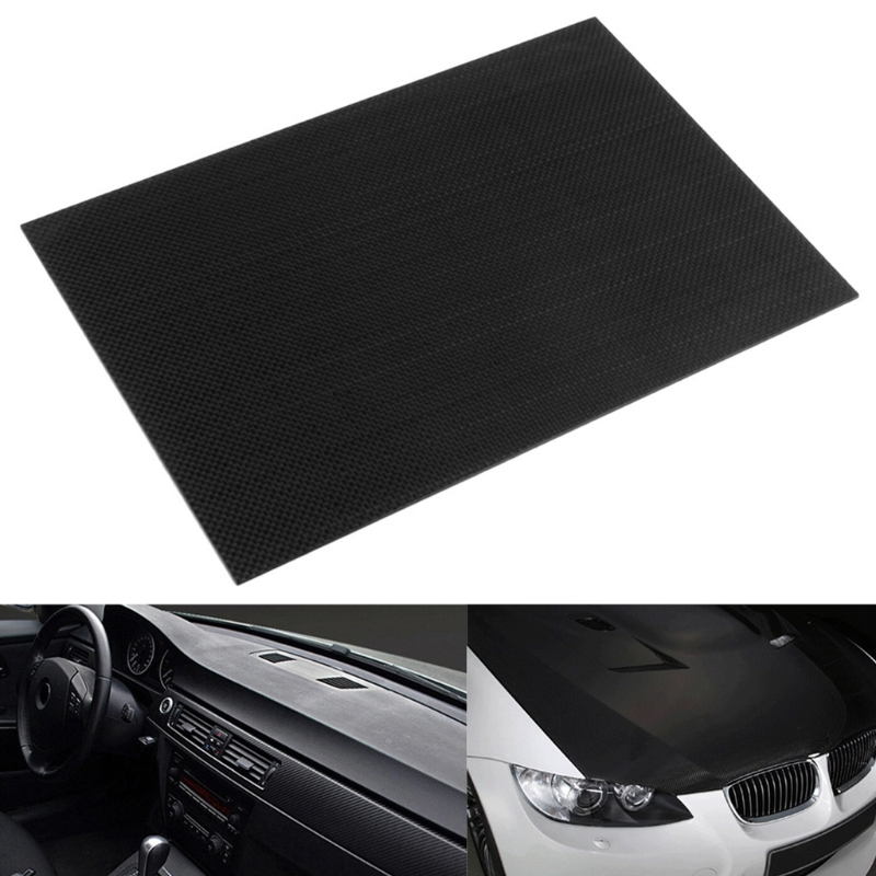 New 100% Real glossy Carbon Fiber Plate Panel Sheet 3K Plain Weave 200X300mm-M15