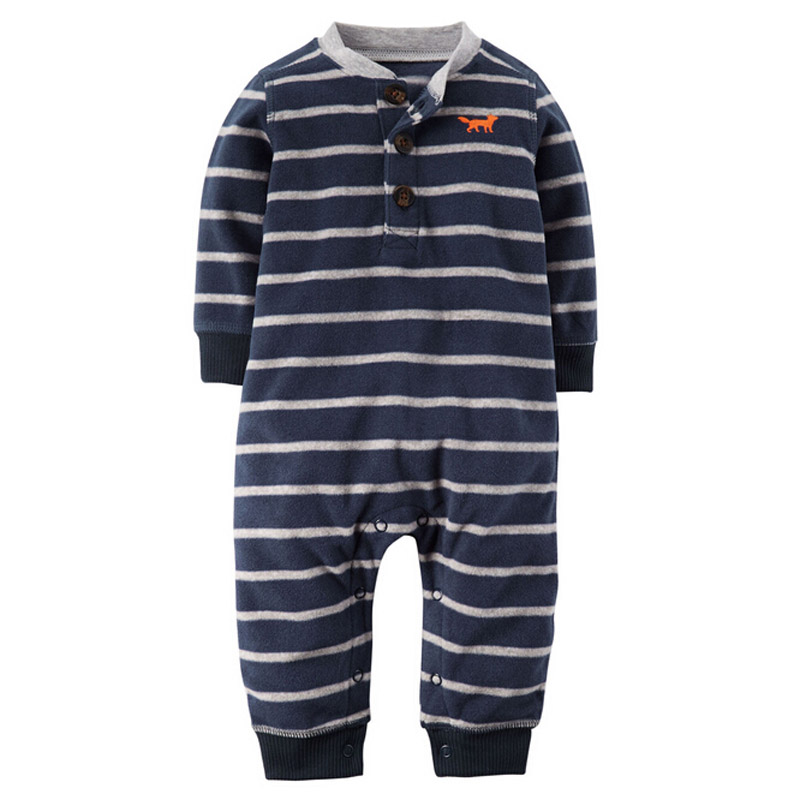 Baby Romper Baby Boys Clothes Fox Animal Baby Rompers Costume Winter Fleece Clothes For Boys Warm Snowsuit Jumpsuit Pajamas mother nest 3sets lot wholesale autumn toddle girl long sleeve baby clothing one piece boys baby pajamas infant clothes rompers