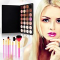 Free shipping 28 Colors Eyeshadow Earth colors +7 PCS Makeup Brush #BSEL