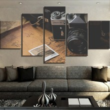 Camera Landscape Painting Home Decor Picture For Canvas Wall Art Living Room HD Print 5 Piece