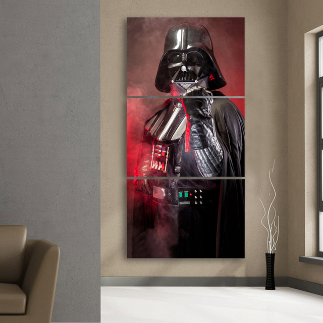 Star Wars Wall Painting (3pcs) – Darth Vader