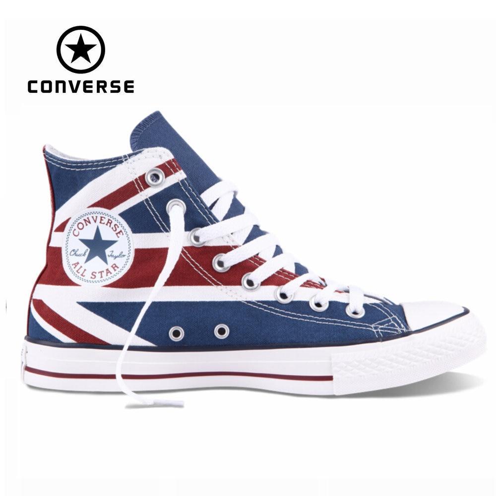 95ac15e92fc Zapatos originales Converse all star Bandera Nacional Color a juego  Zapatillas altas para mujer Zapatillas de lona zapatos clásicos de skate en  Zapatos de ...