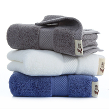 34x78CM 100% cotton high-quality solid classic towel 140G thicken soft hair white blue gray brown lovers couple face