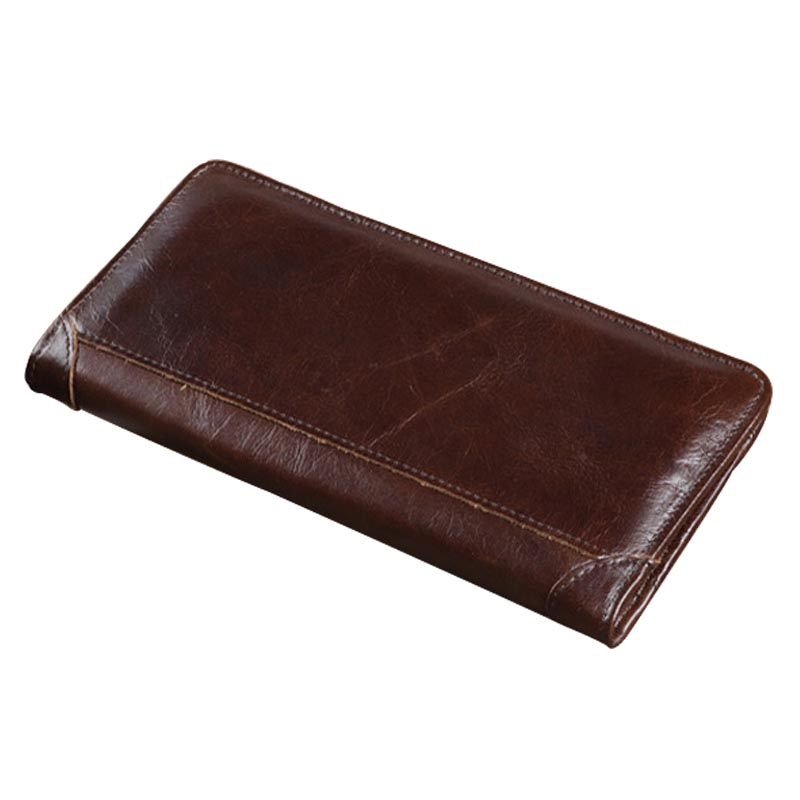 Men Wallet Cowhide Genuine Leather Purse Money Clutch Vintage Casual Long Card Holder Male Dollar Price Coin Small 2017 Wallets joyir vintage men genuine leather wallet short small wallet male slim purse mini wallet coin purse money credit card holder 523