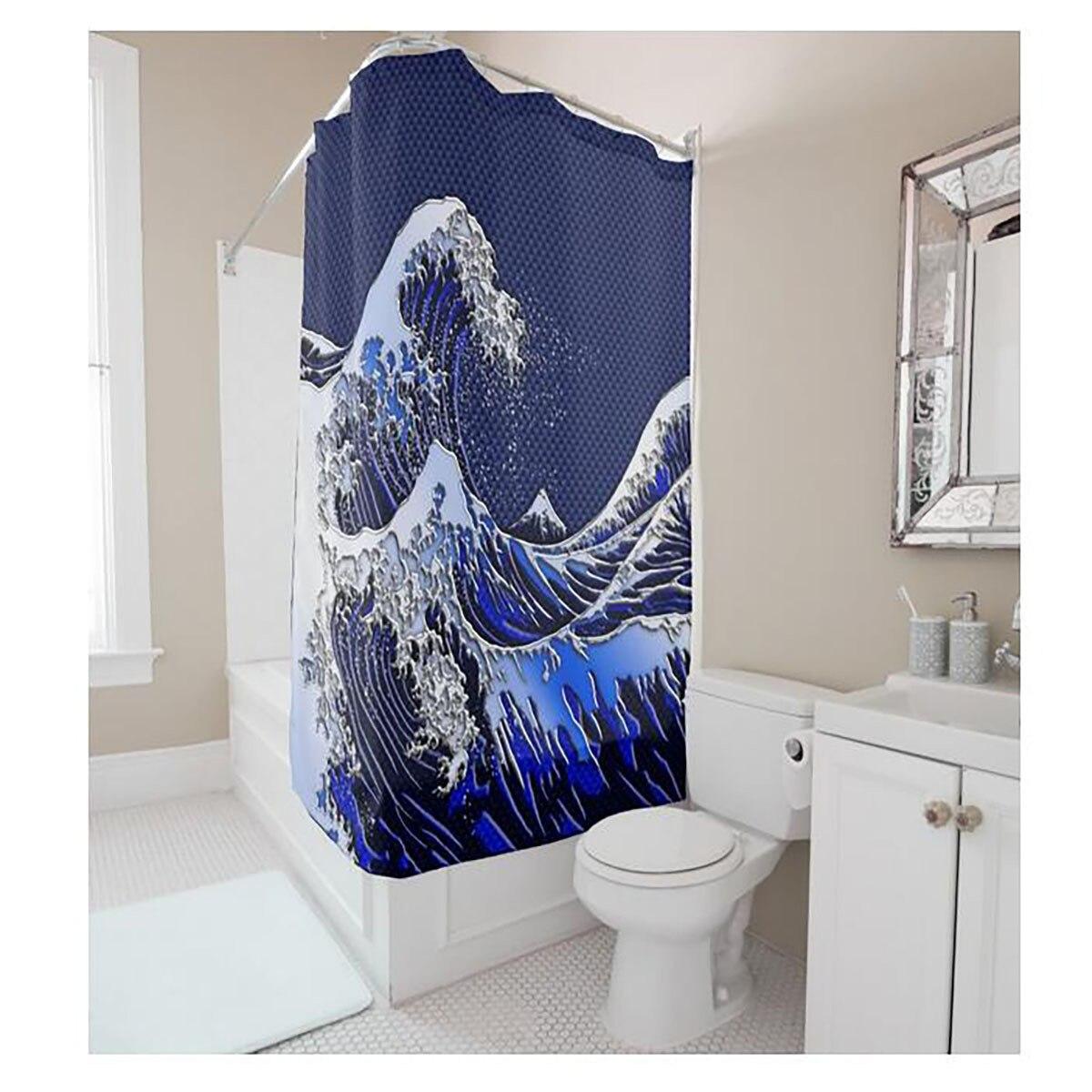 MYRU The Japanese yamato e style bathroom shower curtain polyester ...