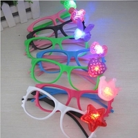 12pcs Lot Various LED Cartoon Glasses Frame Children Christmas Party Ornament Accessaries Gifts Toys L043