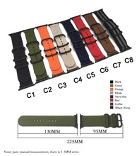цена на Hot Sell Nylon Watchband for Apple Watch Band Series 4/3/2/1 Sport Leather Bracelet 44mm 42 mm 40mm 38 mm Strap For iwatch band
