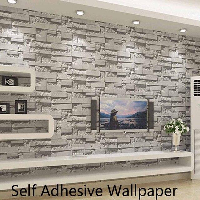 Selbstklebende Ziegel Stein Tapeten 3D Tapeten Wandverkleidung für