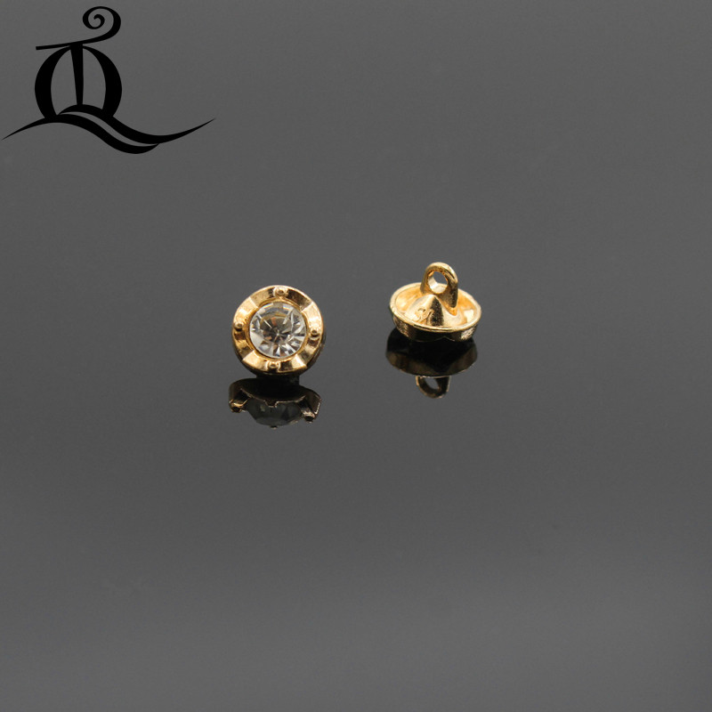 Free Shipping 10pcs 10mm Gold With Drill Metal Buttons Coat Limpid In Sight Brand Button Garment Accessories Diy Material,shirt
