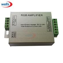 цена на RGB Controller Signal AMPLIFIER For 3528 5050 RGB SMD LED Strip 5-24V 24A