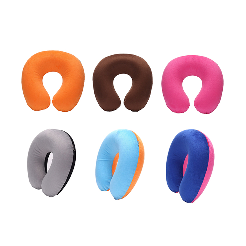 1pc Inflatable Travel Neck Pillow PVC U-Shape Soft Pillow For Car Headrest Air Cushion Travel Airplane Office Naps Home Sleeping