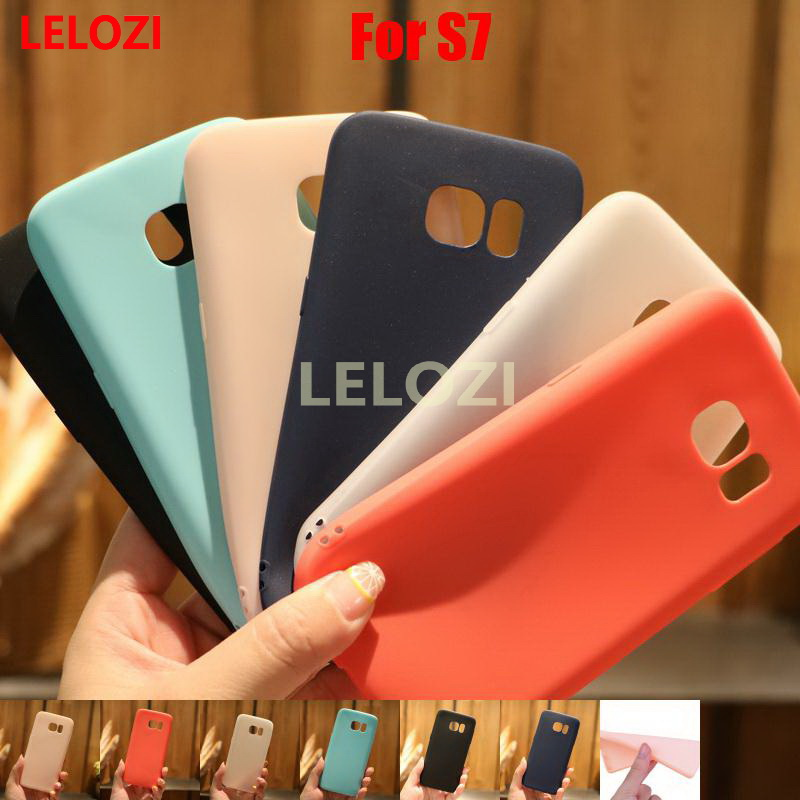LELOZI Candy Colors TPU Soft Phone Cell Carcasa Etui Case fundas For Samsung Galaxy S7 SM-G930F S 7 Fashion Red Beautiful Green