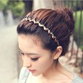 Korea hair jewelry wrapped toothed wave headband hair bands, free home delivery