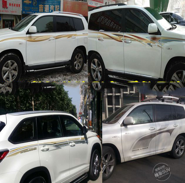 Luhuezu 5 Types 3M Car Body Sticker For Toyota Highlander Kluger Accessories 2009 2010 2011 2012 2013 2014 Years