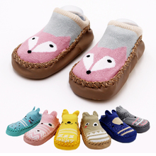 Infant Baby Socks With Rubber Soles Newborn Baby Girls Boys Autumn Winter Children Floor Socks Shoes Anti Slip Soft Sole Sock