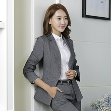 2017 Top Fashion Limited Yards Sleeve Clothing Qiu Dong Han Edition Fashion Women's Suits Ol Interview Ms Dress Suit Elegant