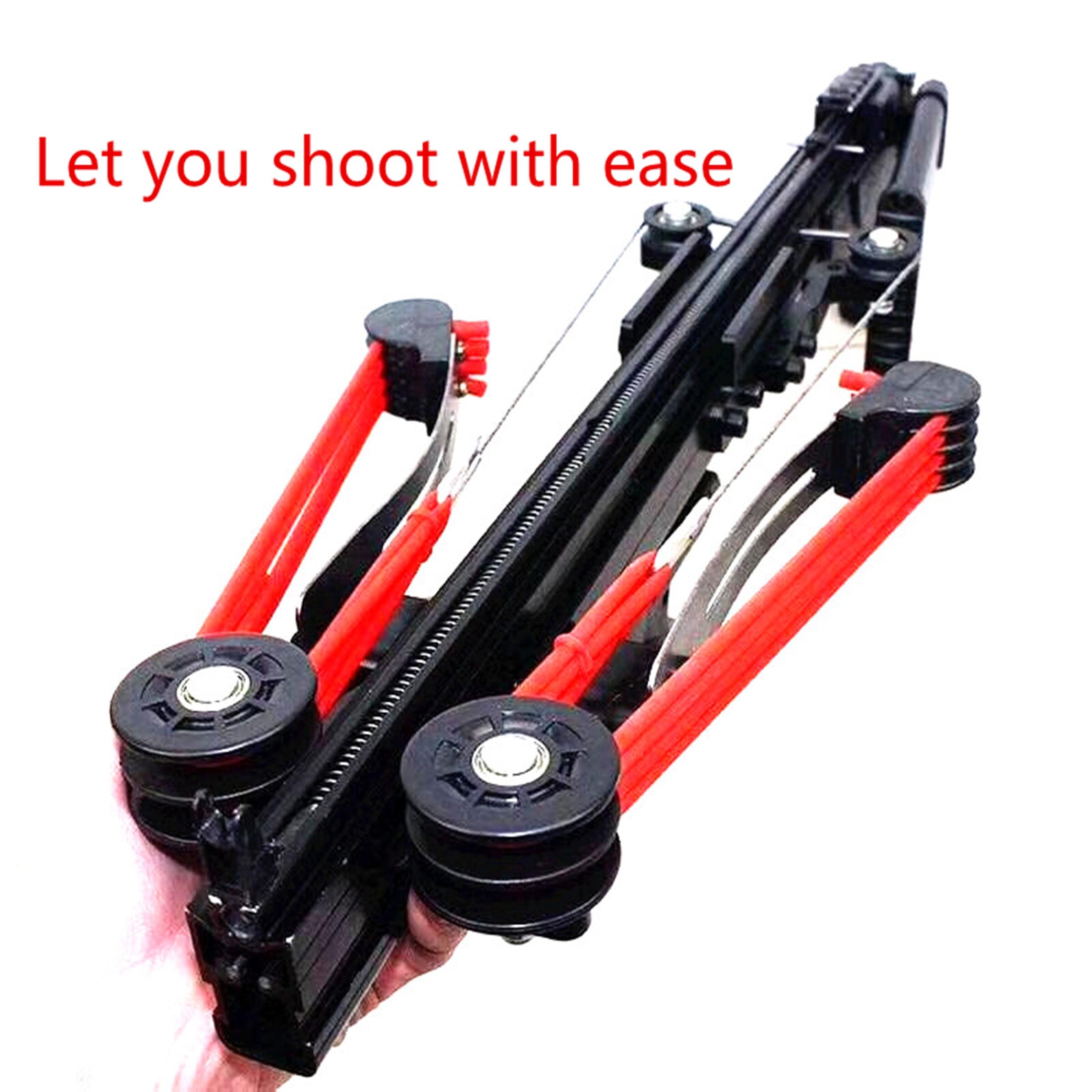 Nettuno 11 Slingshot Tiro 40BB Elastico Tensione Proiettili Caccia Slingshot slingshot Semi-Automatica di scatto Continuo