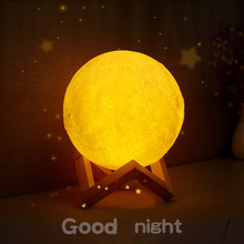 3D Print Moon Lamp Touch Lamp Remote Control Colorful LED Night Light Dimmable USB Charging Home Decoration Bedroom Bedside Lamp 3d print simulation moon light night light usb charging touch control