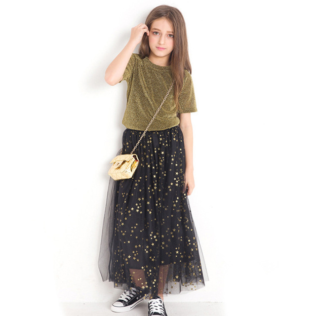 2pcs Sets Kids Gilr Outfits Sequin Teenage Girls Summer Bling Tops + Star Dress Holiday Beach Summer Dresses Outfits2pcs Sets Kids Gilr Outfits Sequin Teenage Girls Summer Bling Tops + Star Dress Holiday Beach Summer Dresses Outfits