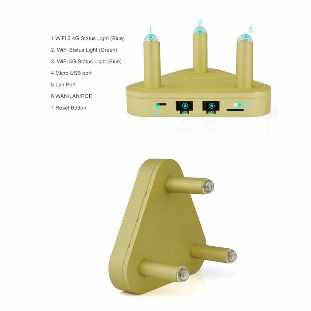 VONETS 2.4G 300Mbps + 5G 450Mbps Dual Band Wifi Router WiFi Signal Booster with Wide 500Meters wifi Signal Coverage цена