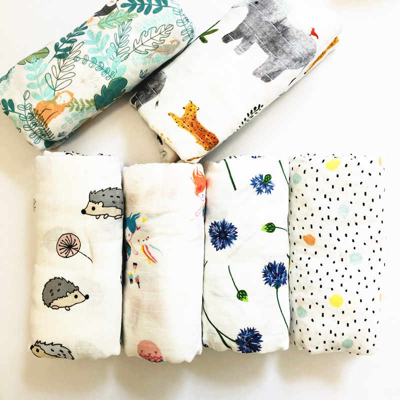 2019 Muslin blankets baby muslin blanket swaddle bamboo cotton Newborn Baby Bath Towel Swaddle Blankets MultiFunctions Baby Wrap