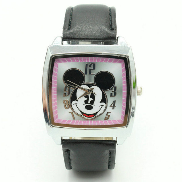 Free Shipping children pretty cartoon mickey lovely watch Best fashion casual si