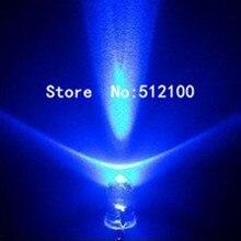 2000 шт 5 мм ультра яркие голубые белые волосы голубые