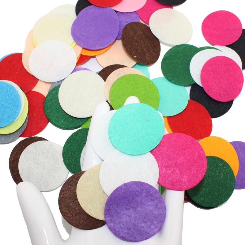 100 шт. DIY 3,8 см-4 см Круглый Войлок тканевые подкладки аксессуар патчи круглые фетровые диски, ткань цветок аксессуары