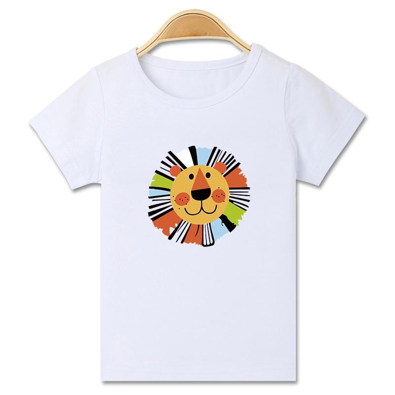 Fashion Casual Cartoon Cat Horse wydrukowano z krótkim rękawem - Ubrania dziecięce - Zdjęcie 1