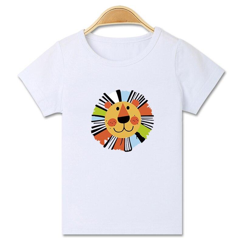 Mode casual cartoon kat paard gedrukt korte mouwen grappig t-shirt - Kinderkleding - Foto 1