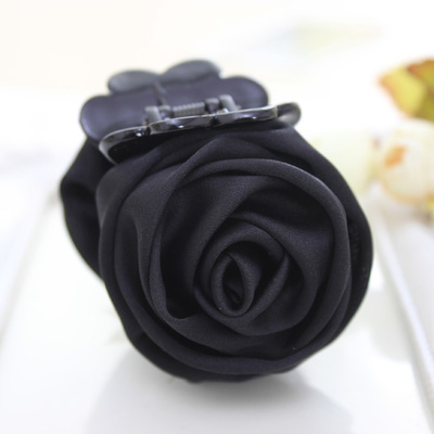 Розовые цветы черные пластиковые зубы заколки для волос изысканный элегантный головной убор для женщин девушек аксессуары для волос - Цвет: 9104