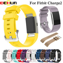 лучшая цена Soft Silicone Wristband Smart Watch For Fitbit Charge 2 Band Strap  Watchband Replacement Smartwatch Band Wrist Strap Colorful