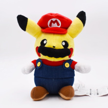 20cm Pikachu Kawaii Cosplay Super Mario Plush Toy Cartoon Anime Peluche Stuffed Doll Gift For Children Free Shipping