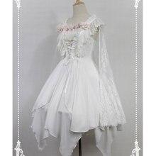 Асимметричное готическое платье лолиты балетный дух короткое JSK платье с кружевной накидкой от Soufflesong распродажа