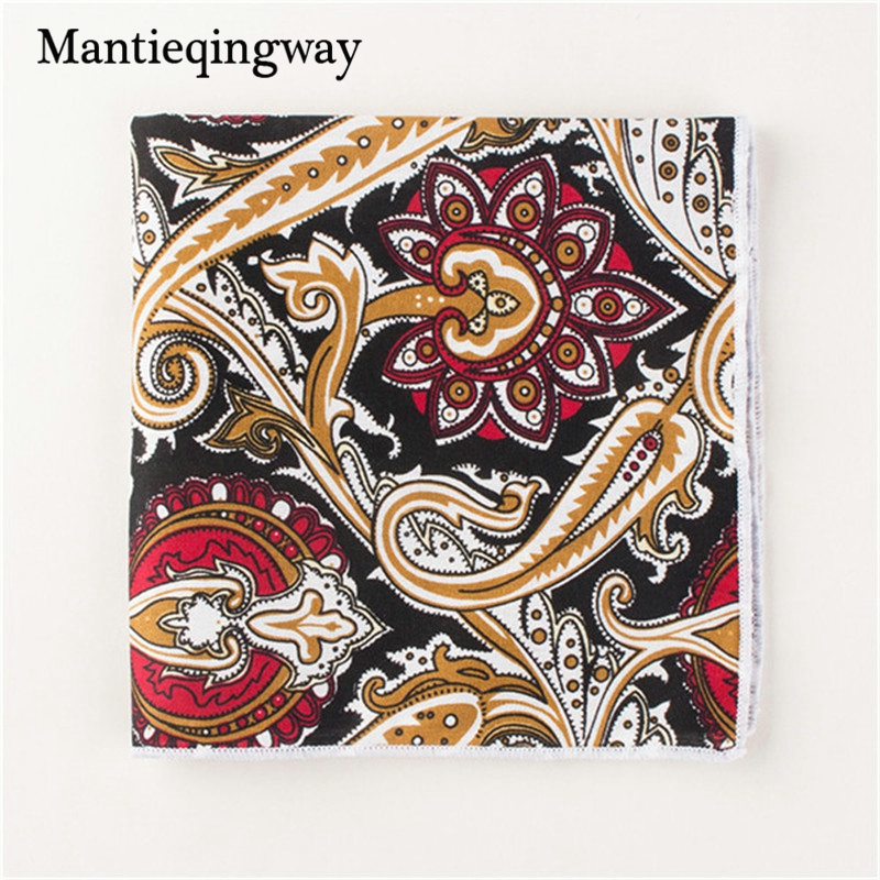 Mantieqingway Brand Pocket Squares Handkerchief Men Paisley Floral Towel Pocket Casual Wedding Handkerchiefs For Men
