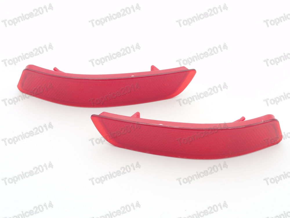 ФОТО 1Pair Red Lens Rear Bumper Reflectors For Toyota Corolla US Built