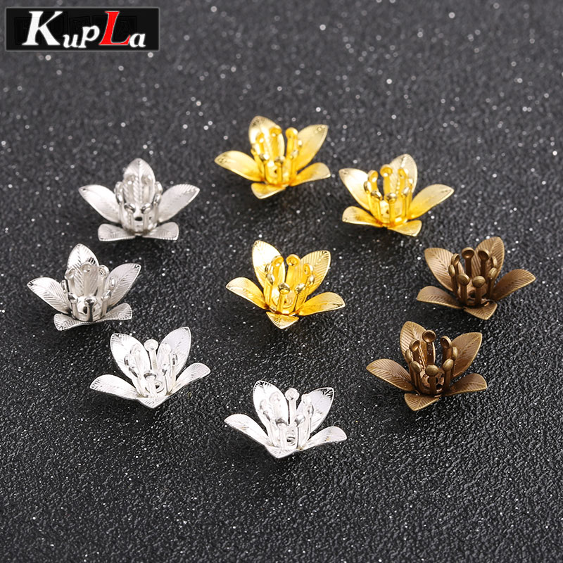 Metal Copper Cameo Flower Bead Caps Handmade Classic DIY Accessories Fashion Jewellery Making Supplies 30 Pieces/lot ...