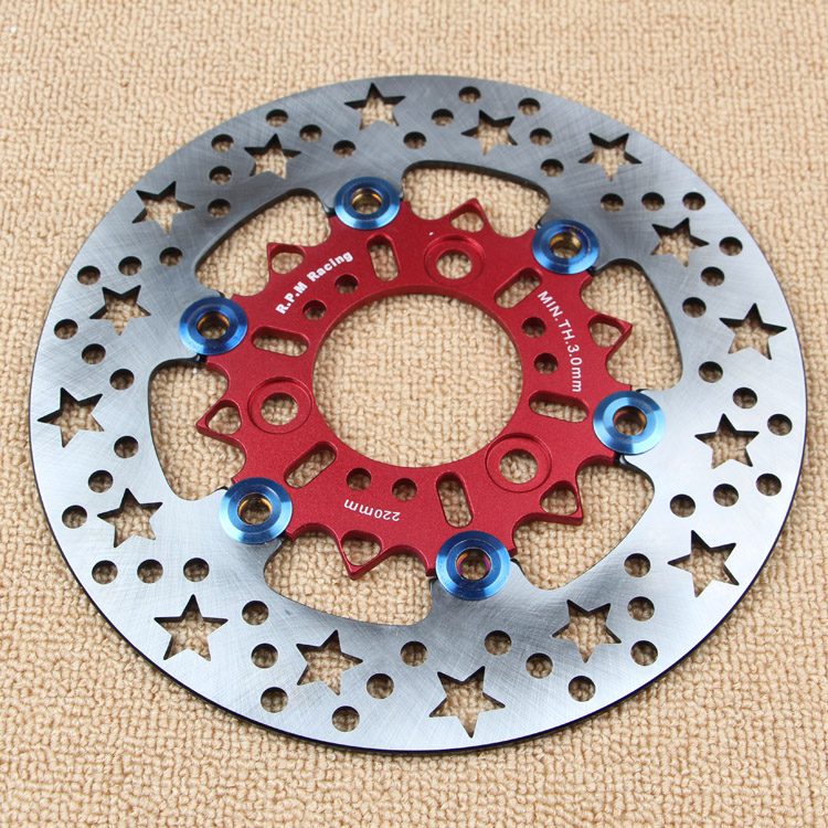 Motorcycle 220mm 260mm Brake Disc Rotor Star Hole For Personality Modify For Yamaha Scooter Bws Cygnus(220mm/70mm Hole To Hole) keoghs motorcycle brake disc floating 220mm 70mm hole to hole for yamaha scooter honda modify